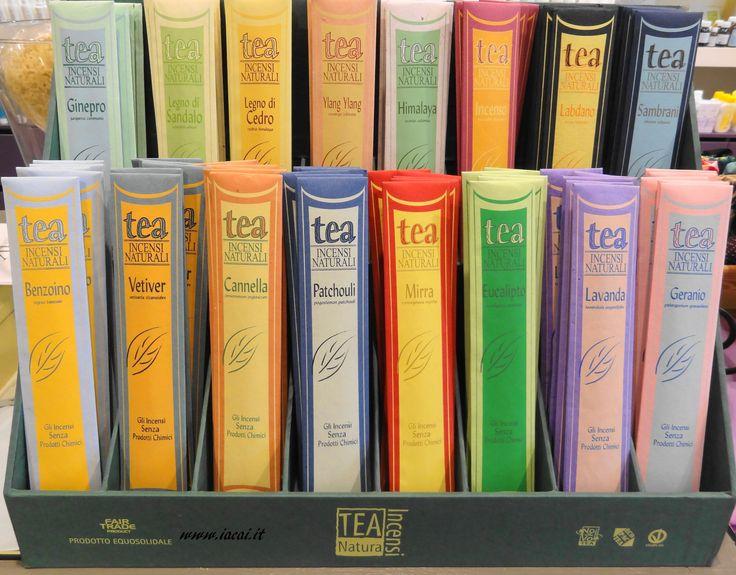 """Vi proponiamo in negozio una novità interessante da TEA Natura : il primo incenso che può riportare in etichetta la dicitura """"gli incensi senza prodotti chimici""""."""