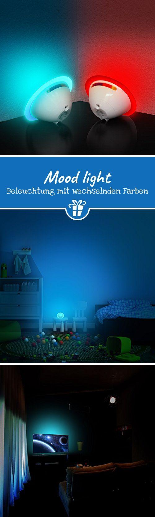 LED Projektor Nachtlicht (Mood Light) Beleuchtung mit Wechselnden Farben Ideal für Kinder, Dekoration, Design, Leselampe, Tischlampe, Tischdeko & mehr - lustige Geschenkideen   ausgefallene Geschenkideen   coole Gadgets   Geek Gadgets   Gadgets Gifts (*Partner-Link)
