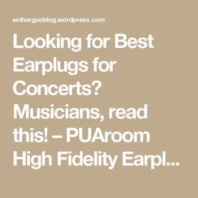 Looking for Best Earplugs for Concerts? Musicians, read this! – PUAroom High Fidelity Earplugs