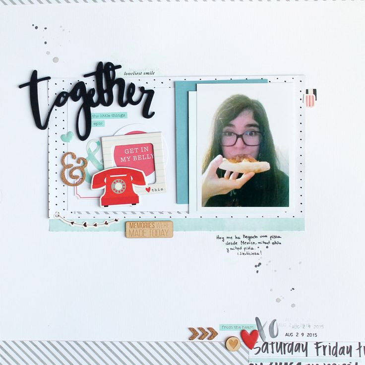 #papercrafting #scrapbook #layout idea: Together by olatz at @studio_calico