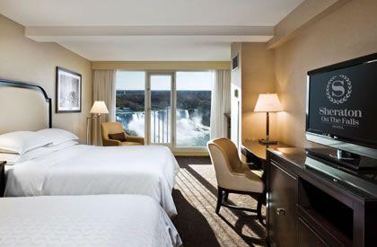 Niagara Falls Sheraton Hotel Accommodations   Deluxe Fallsview Two Queen - Sheraton on the Falls Hotel, Niagara Falls Canada