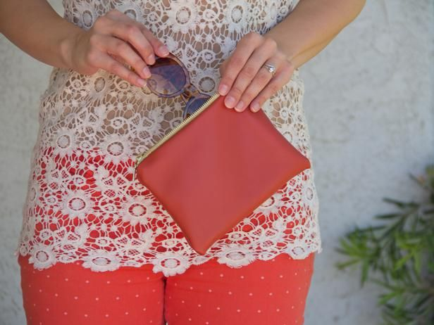 How To Make a Handmade Leather Purse >> http://www.diynetwork.com/decorating/how-to-make-a-handmade-leather-purse/pictures/index.html?soc=pinterest: Diynetwork With, Leather Clutches, Diy Gifts, Handmade Leather, Buy Leather, Crafts Expert, Diy Network, Diy Handmade, Leather Purses