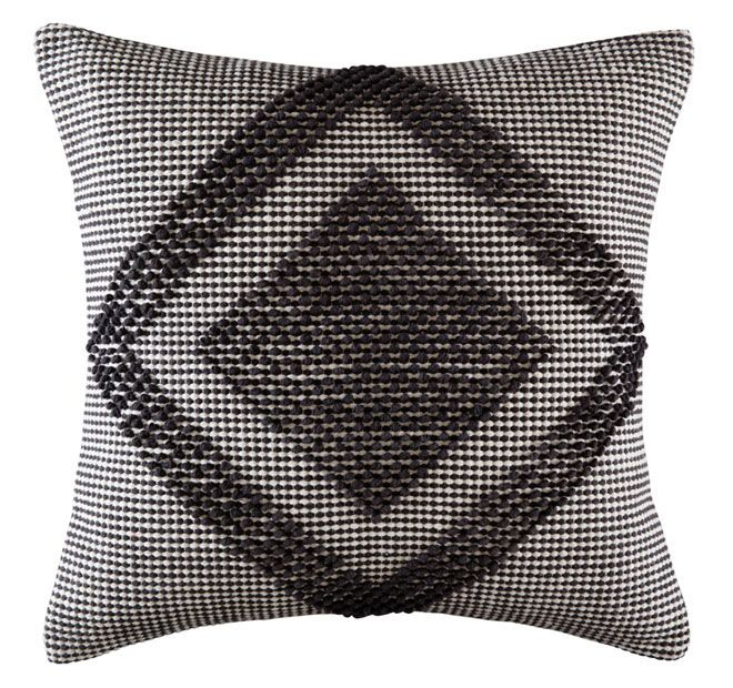 Kas Room Jelani 50x50cm Filled Cushion Charcoal