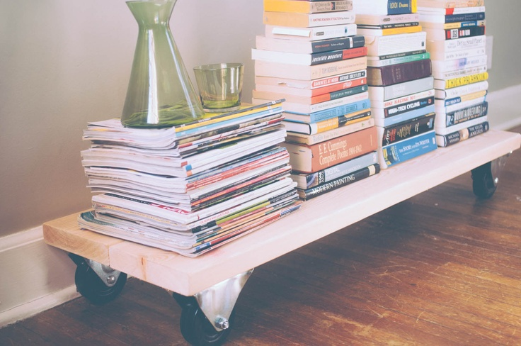 Alternative Book storage - DIY by The Clever Bunny www.thecleverbunn...