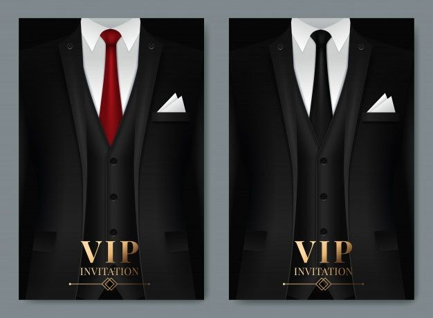 Of Set Of Business Card Templates With Suit And Tuxedo In 2021 Card Templates Pink Business Card Business Card Template
