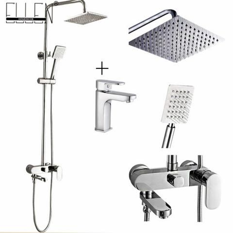 Bathroom Shower Set 8 10 12 Inch Rain Shower Head Bath Shower Mixer With Hand Shower Shower Bath Bath Shower Mixer Shower Remodel