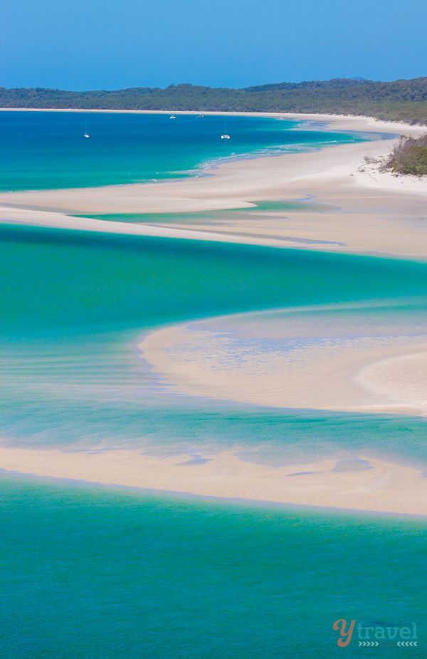 Famous Whitehaven Beach in Queensland, Australia