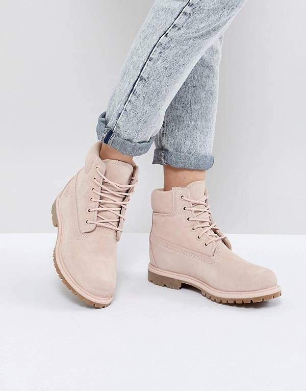 40028a60fdc Timberland 6 Inch Premium Rose Suede Flat Boots | Pretty in Punk ...
