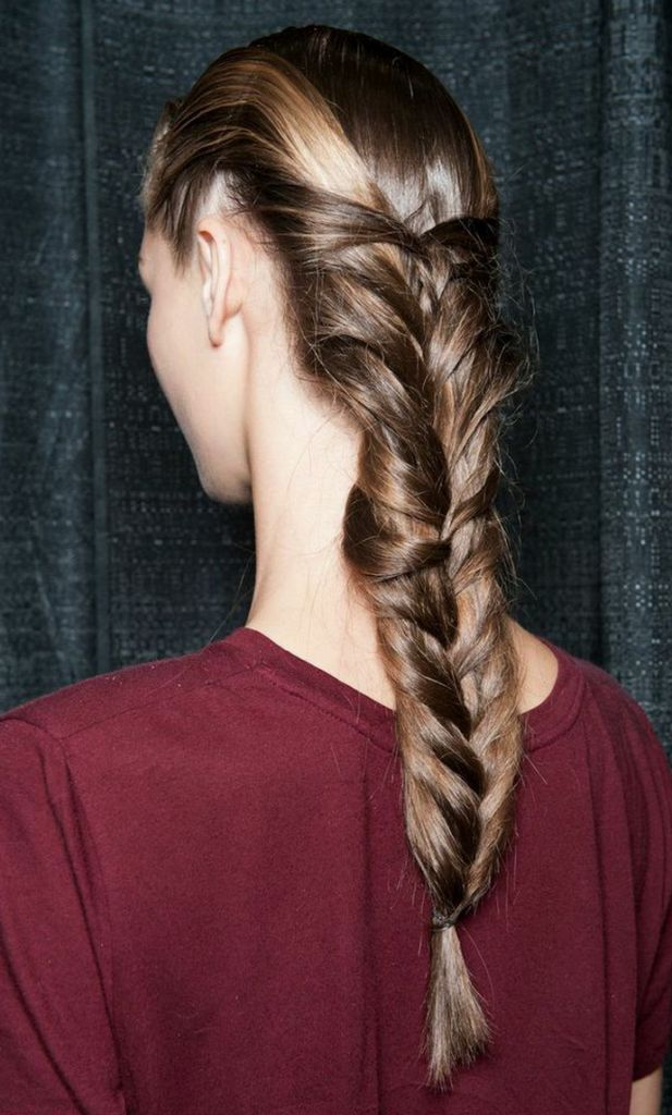 Get The Look: Glossy Cage Herringbone Braid From SUNO Spring 2015 New York Fashion Week Show | Lady and the Blog