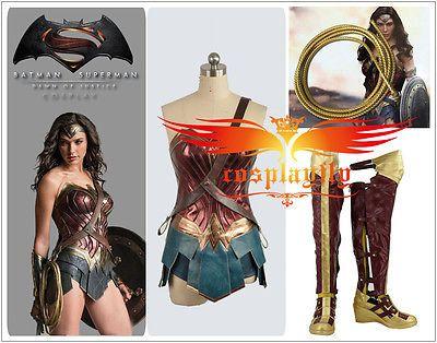 Tamaño personalizado V Batman Superman Mujer Maravilla Diana Prince Cosplay Disfraz Zapatos