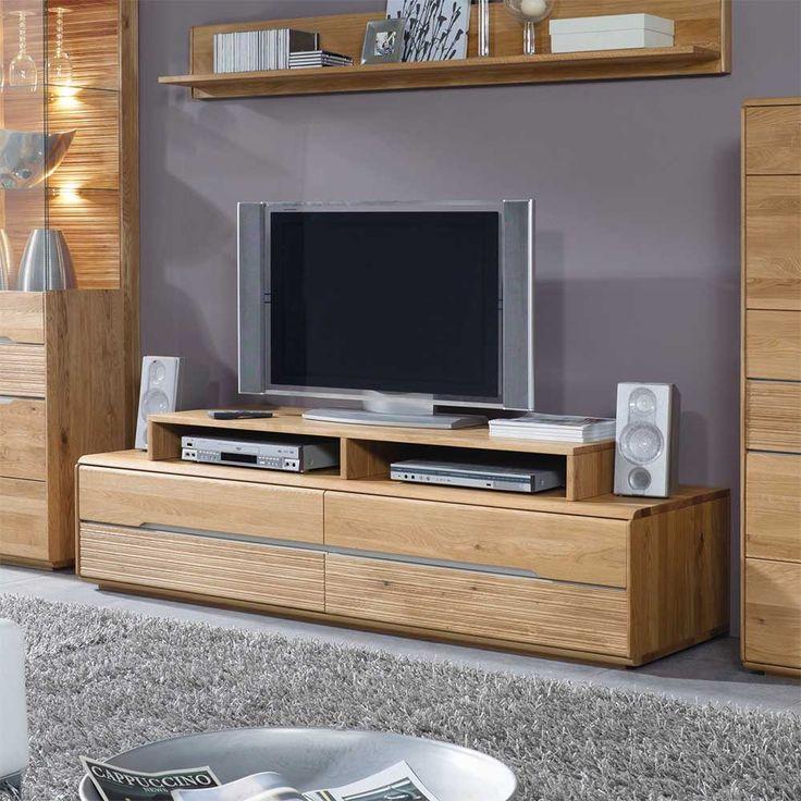 Fabulous Massivholz Lowboard mit Aufsatz Wildeiche teilig Jetzt bestellen unter