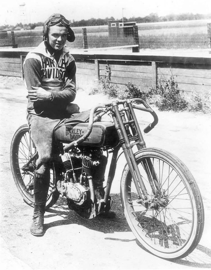 "This Day in Harley-Davidson History – Jun 25, 1919 – Albert ""Shrimp"" Burns signed his first factory racing contract with Harley Davidson. He went on to become one of the country's best racers."