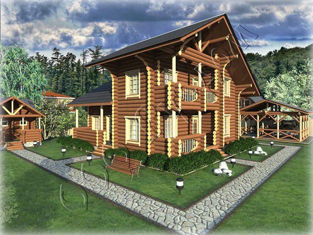 Проект дома разработан в стилистике шале chalet (фр) - буквально хижина пастуха. Основной отличительный признак шале - сильно выступающие свесы кровли  Читать далее: http://www.rusdom.ru/projects-houses/chalet/