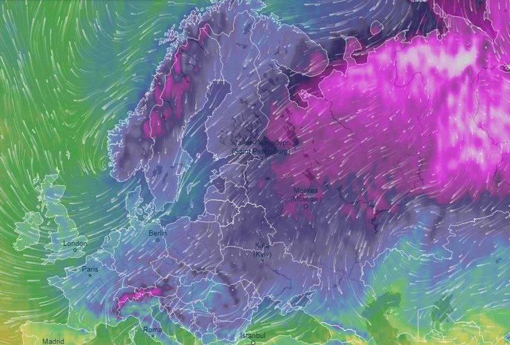 Image result for storm emma beast from the east map europe