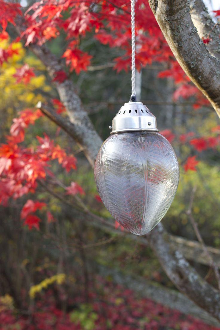 Stor härlig lampa i glas!