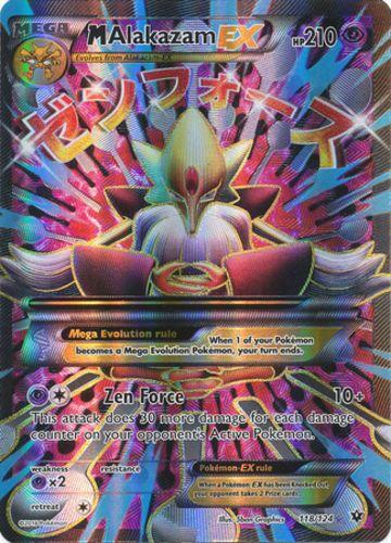 Pokemon Mega-Alakazam-EX - 118/124 - Full Art Ultra Rare, Near Mint X1
