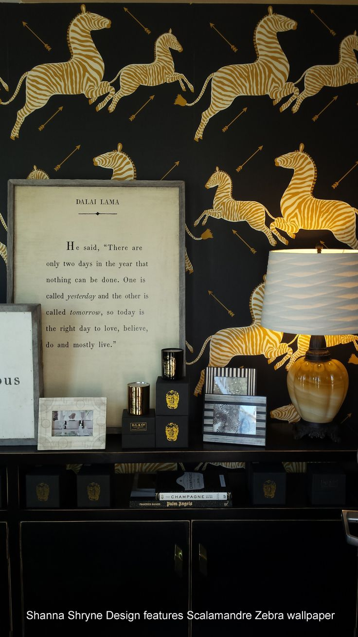 Shanna Shryne featured Scalamandre zebra wallpaper in her Hermosa Beach storefront