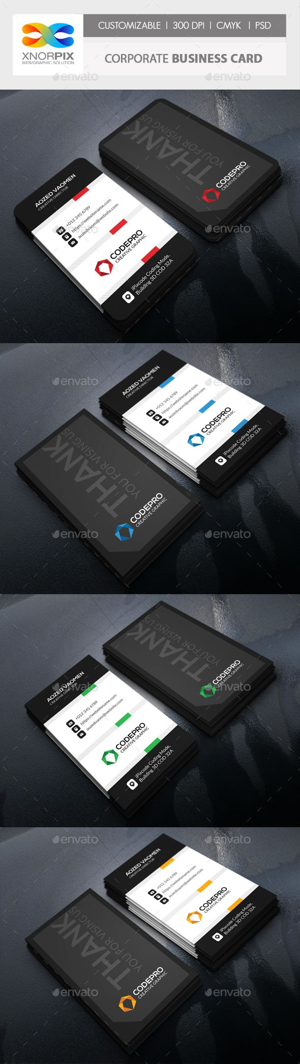 #Corporate Business Card - Corporate #Business #Cards Download here: https://graphicriver.net/item/corporate-business-card/20293959?ref=alena994