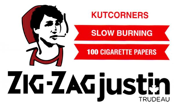 Justin Trudeau's Face on Zig-Zags