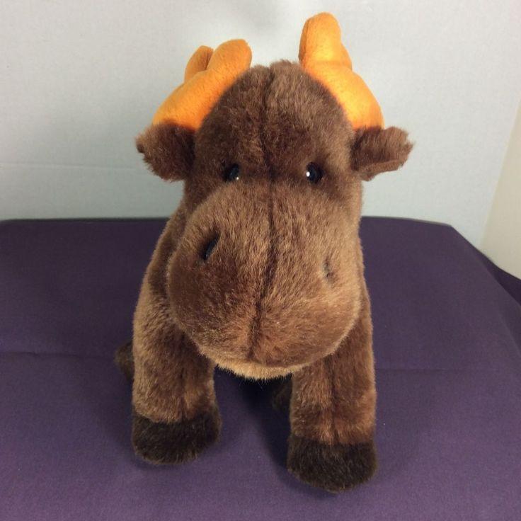 "Ty Beanie Buddies Plush Stuffed Chocolate the Moose Brown Antlers 13"" 1999 #Ty"