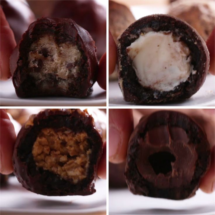Stuffed Brownie Truffles 4 Ways