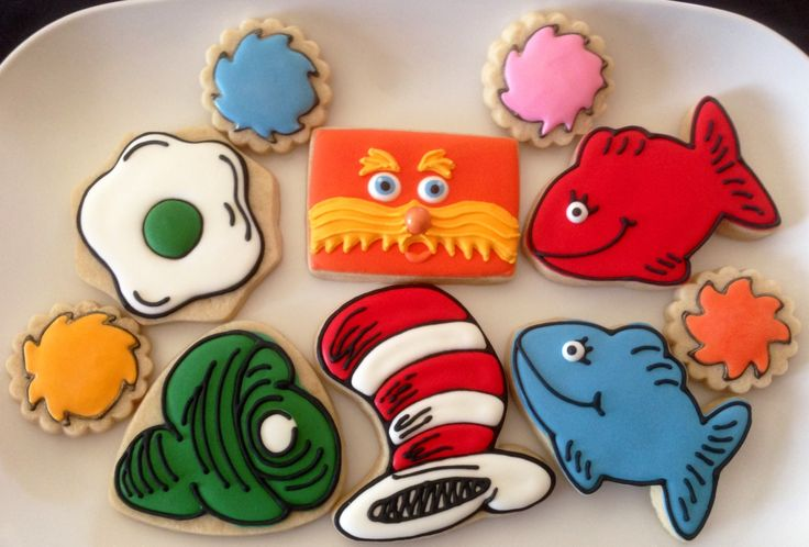Dr Seuss Themed Sugar Cookies By What The Cookie