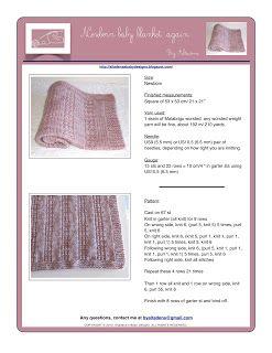 Altadena's baby designs: Newborn blanket...I did it again!!