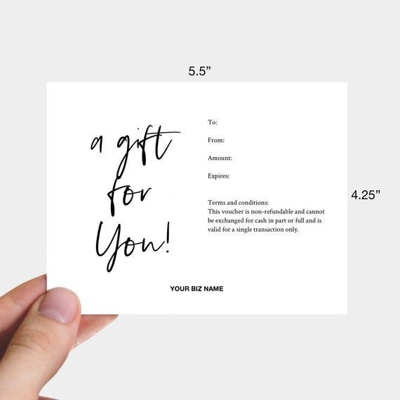 Printable Minimal Thank You Card Almost Makes Perfect In 2020 Gift Card Template Printable Gift Certificate Gift Certificate Template