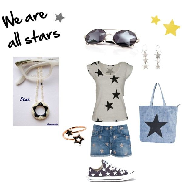 """""""We are all stars"""" #outfit by occhiondolo on #Polyvore"""