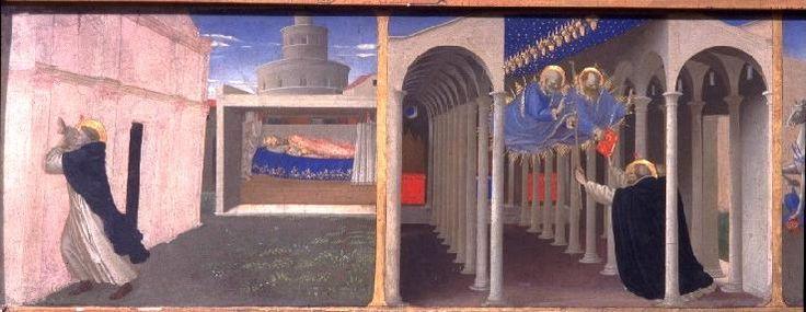 Angelico, predella dell'incoronazione della vergine del louvre, storie di san domenico, 1434-35  No 01.jpg