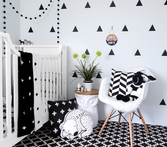 Fabulously Sophisticated Nursery Inspiration Black White Room Baby