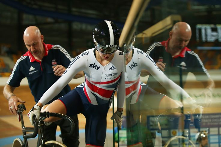 Rebecca James Photos - Rebecca James of Great Britain makes her way back to the track centre after Women's Sprint Qualifying during day one of the 2013 European Elite Track Championship at Omnisport Apeldoorn on October 18, 2013 in Apeldoorn, Netherlands. - European Elite Track Championships: Day 1