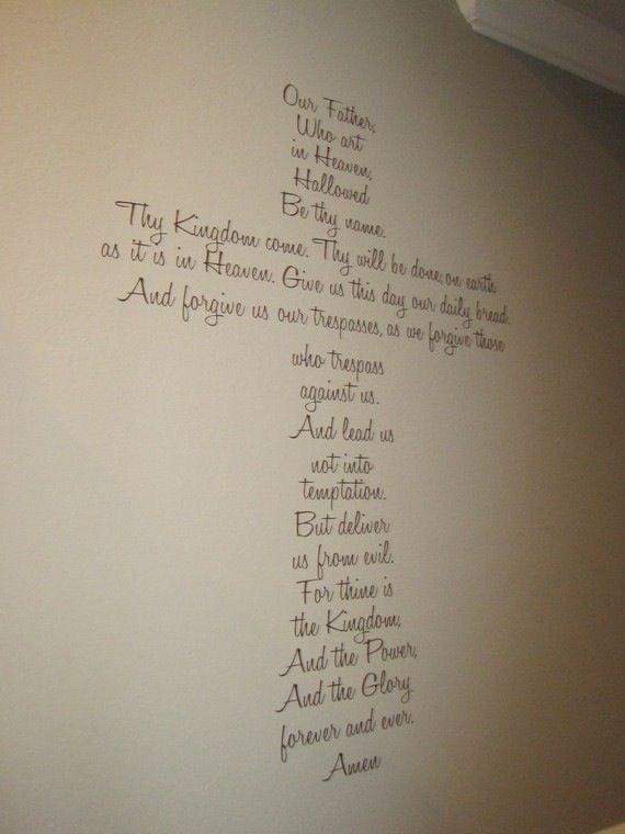 Lord S Prayer Large Vinyl Cross Wall Decor Vinyls Wall