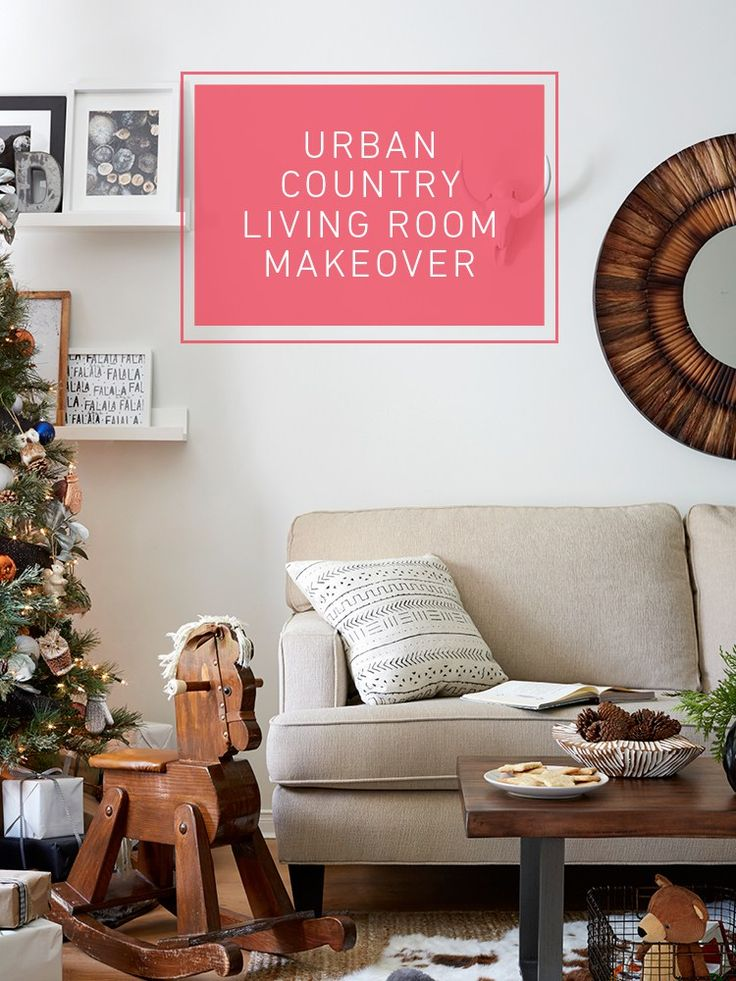 Urban Country Living Room Makeover