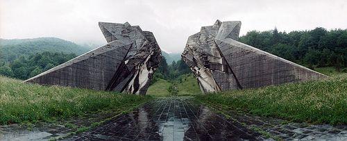 "Tjentiste  Monument by Miodrag Zivkovic ""Spomeik pobjede na Sutjesci"" built 1963-71"