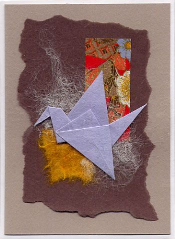 traditionnal origami crane and collage