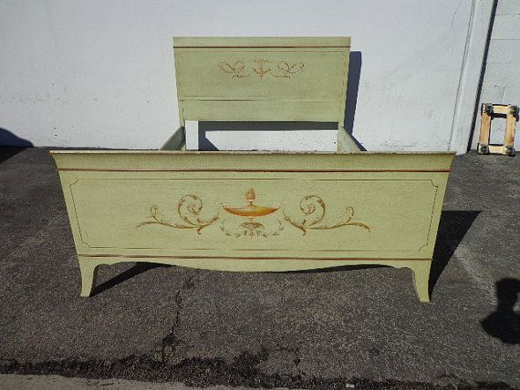 499 bed frame antique shabby chic country french headboard full size bedroom set painted chalk paint