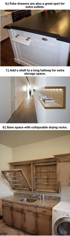 Things That Will Make Your Home Extremely Awesome   FB TroublemakersFB Troublemakers Shelving in the hallway
