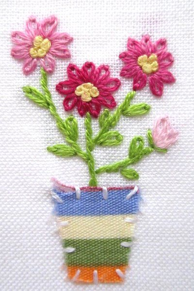 Hand embroidery Greeting Care by Peacockbox (print image)