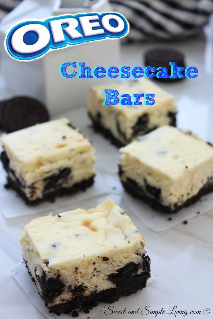 Yummy Oreo Cheesecake Bars:  7 Ingredients for a Quick Dessert Idea