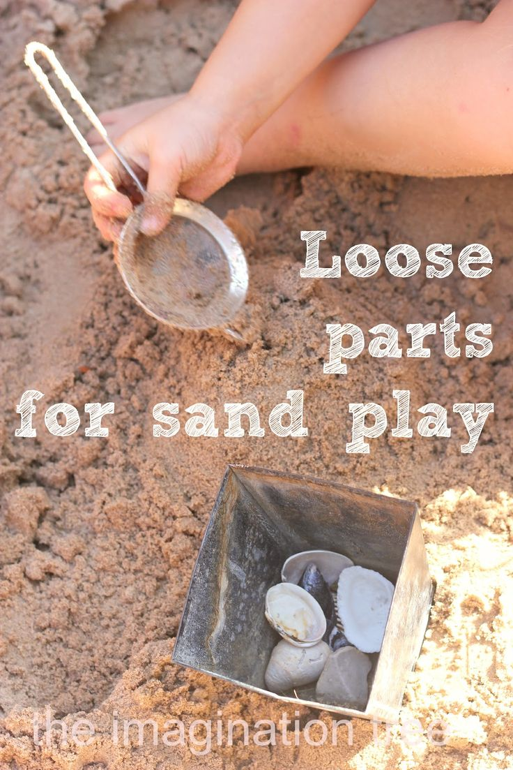sand play ideas with loose parts