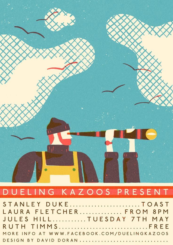 daviddoran:  A new poster for Dueling Kazoos!