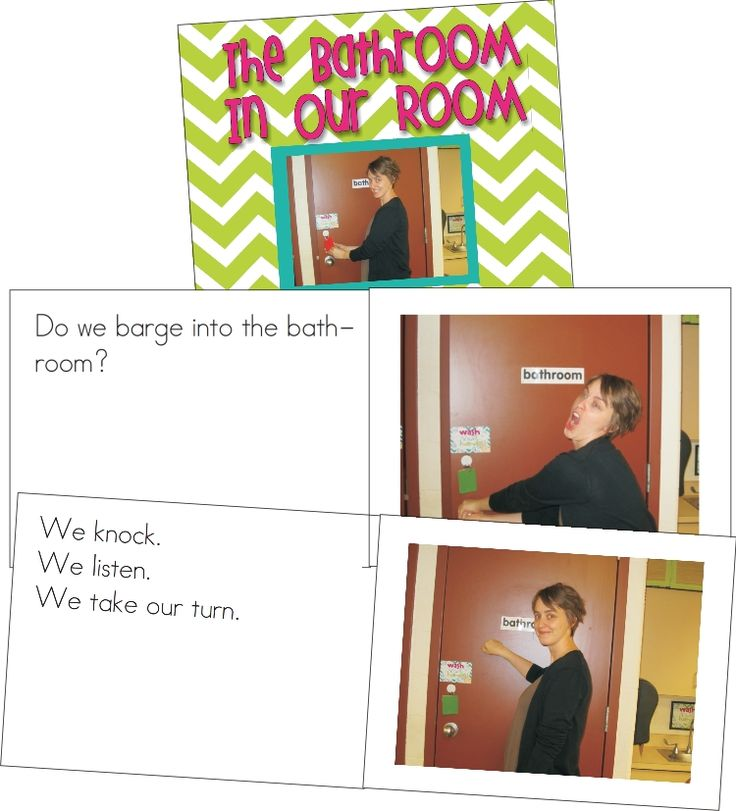 Create a classroom procedures book for the bathroom to teach routines the first week of school. Genius!