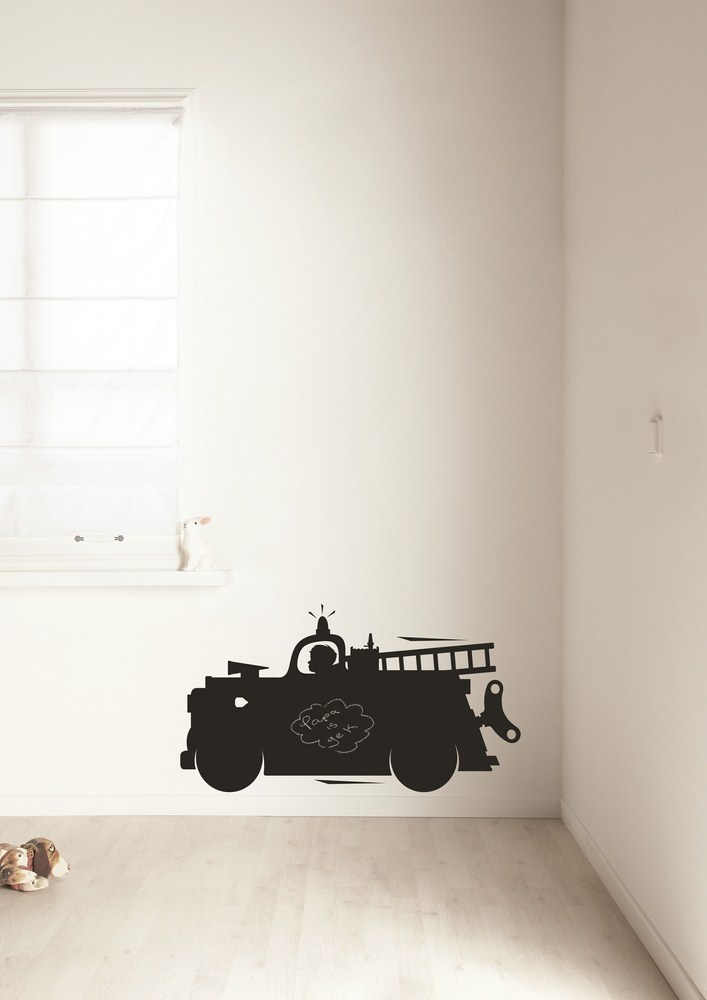 KEK Amsterdam Krijt- Schoolbordsticker 'Toys For Boys' Medium - Brandweer