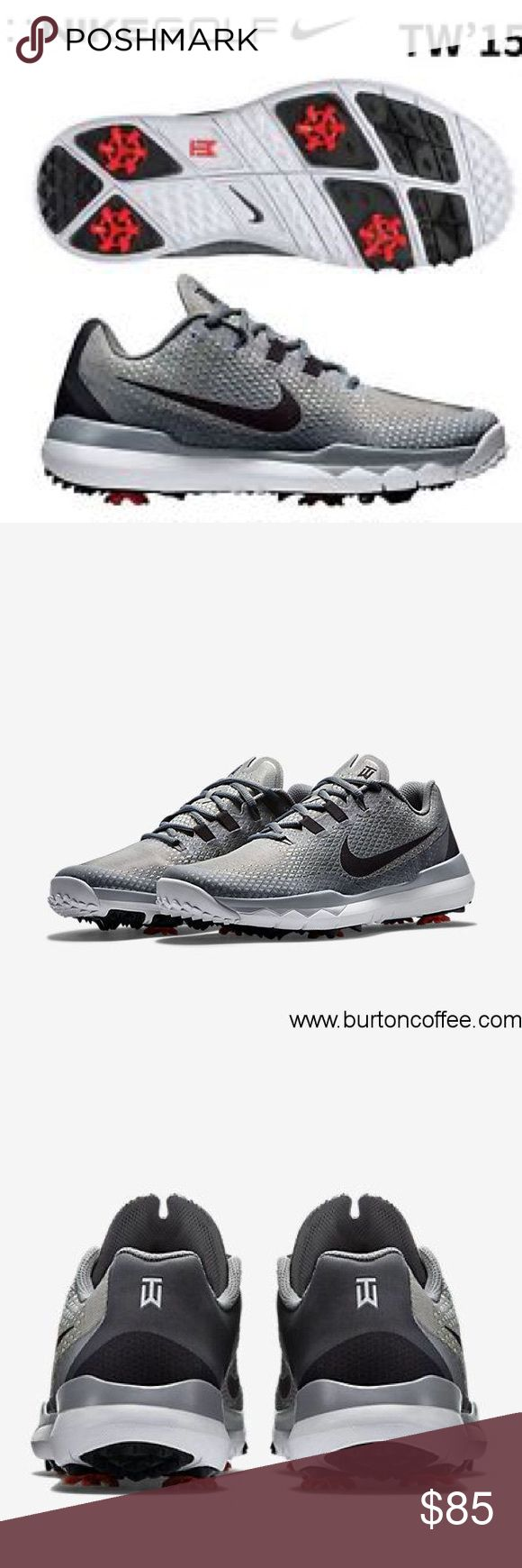 NWT Nike Tiger Woods Men Golf Shoe Please make offers!                                                               Tiger Woods Golf Shoe Men size 9W  Gray and Black Original price $250 Brand new never worn! Nike Shoes Athletic Shoes
