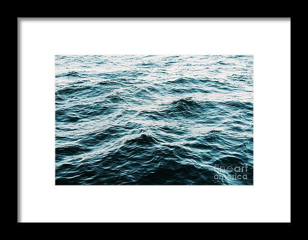 Ocean Waves Abstract Framed Print