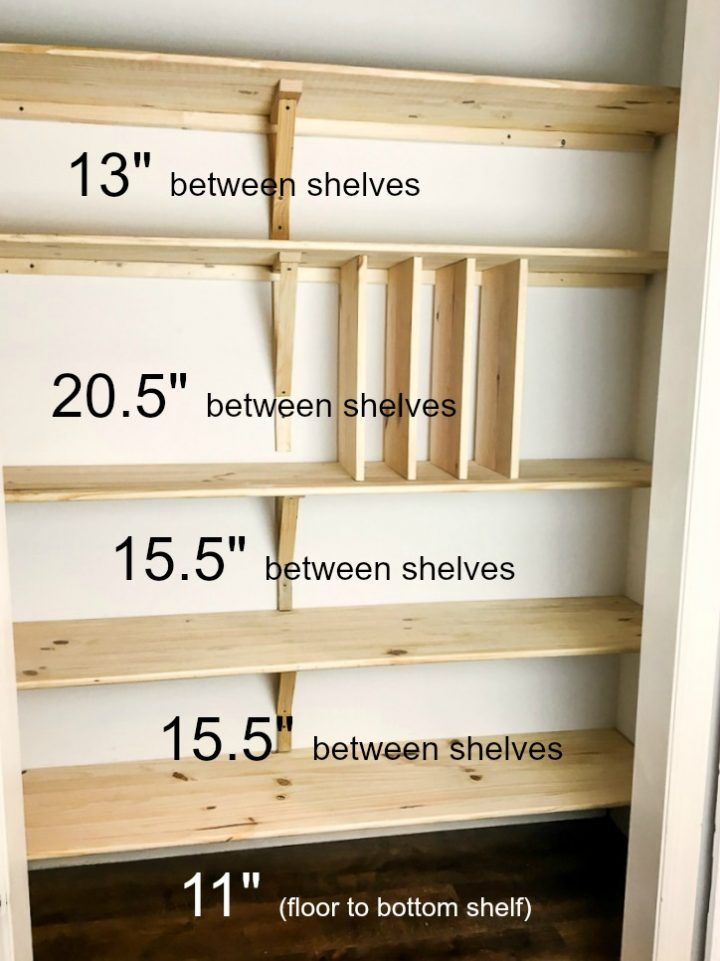 How To Build Diy Wood Pantry Shelves With Measurements