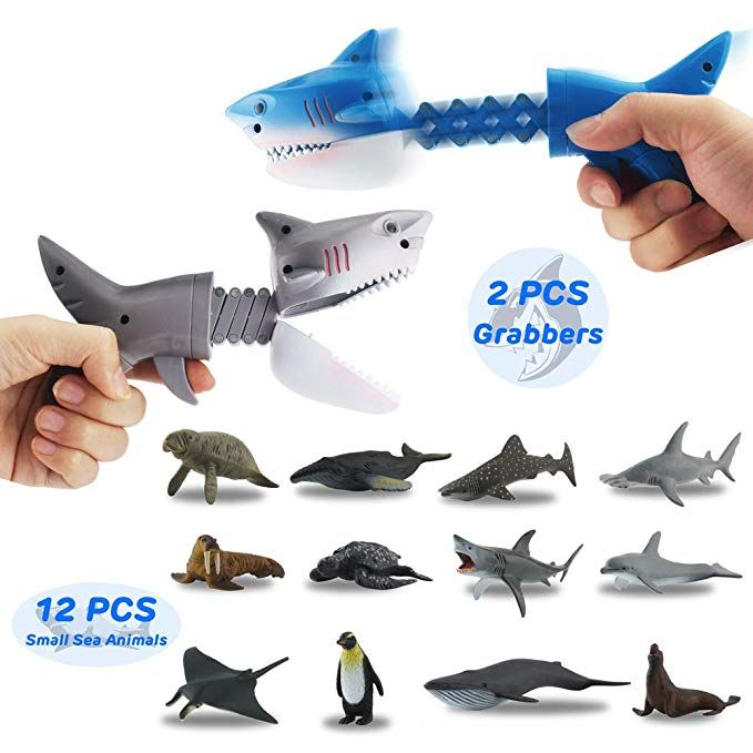 Amazon.com: GreenKidz Hungry Shark Grabber Toys with 12PCS Mini Sea Animal Figur…