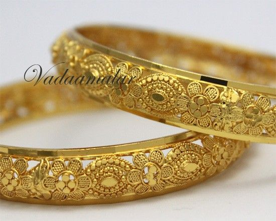 enamel indian plated bangles bracelet gold toned thick bangle bracelets designs