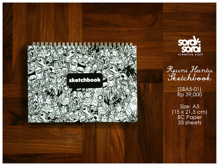 Sketchbook Reuni Hantu (Ghost Reunion) by #soraksorai.  Designed by Upik Supriyanto